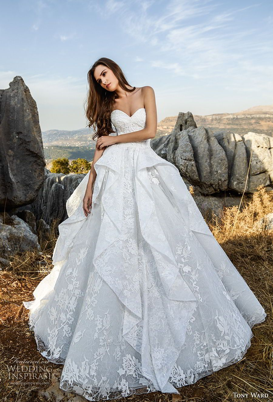 Tony ward la mariée fall wedding dresses neckline romantic