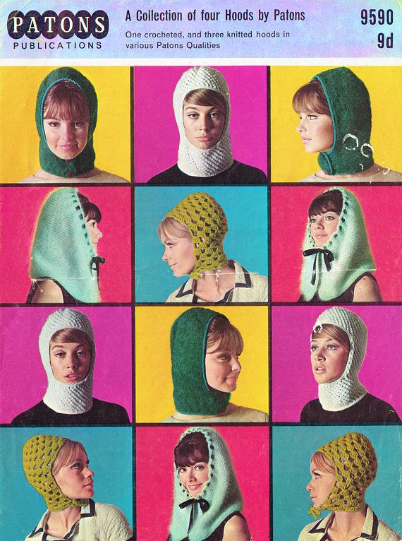 PDF Vintage 1960s Womens Ladies Knitting & Crochet Pattern Hats ...