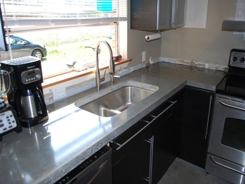 How to make luxury concrete countertops polished