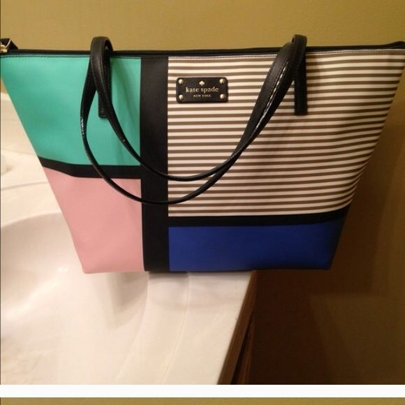 Kate spade Brand new with tags. Cute spring color and so fun!! kate spade Bags Totes