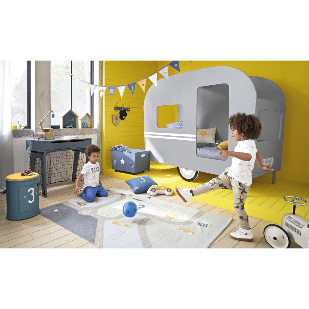 lit caravane enfant 90x190 gris | chambre florentin | pinterest