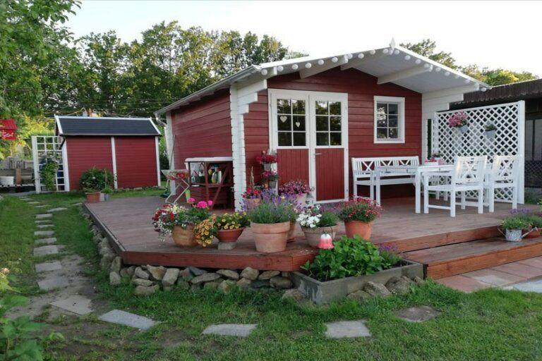 Gartenhaus Erki 44 Ein Schwedenroter Traum Im Kleingarten Haus Und Garten Gartenhaus Gartenhaus Mit Veranda