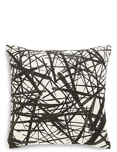 Monochrome Line Print Cushion Cushions On Sofa Cushions