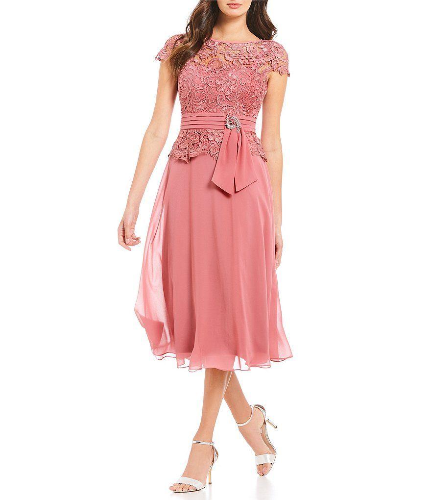Emma Street Illusion Lace Mock 2-Piece Dress