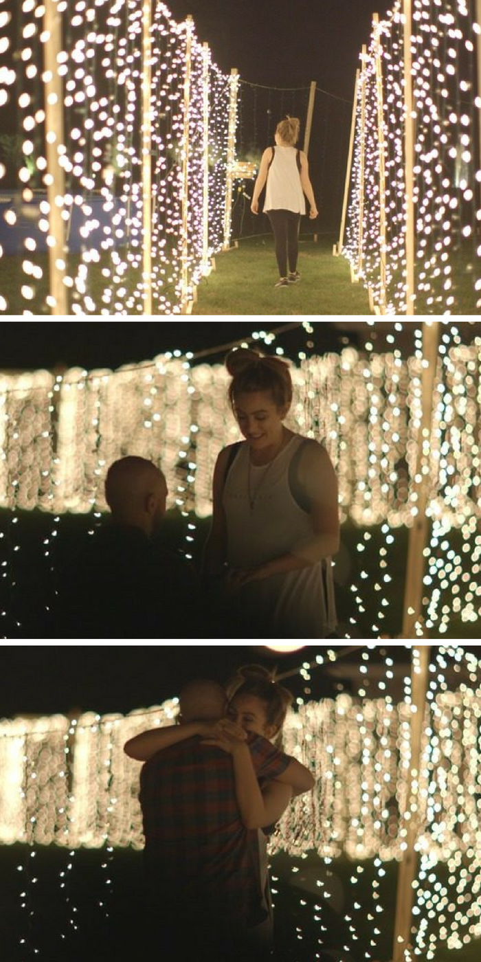 He put together the most magical backyard proposal, and every detail has us swooning!