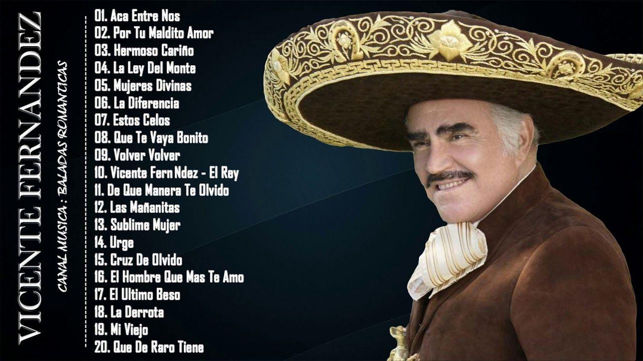 Vicente Fernandez Lo Mejor De Lo Mejor Sus Grandes Canciones éxitos De Spanish Music My Favorite Music Wedding Playlist