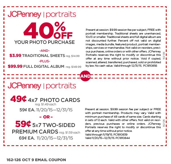 Photography Coupon I Portrait Studio Offers | JCPenney