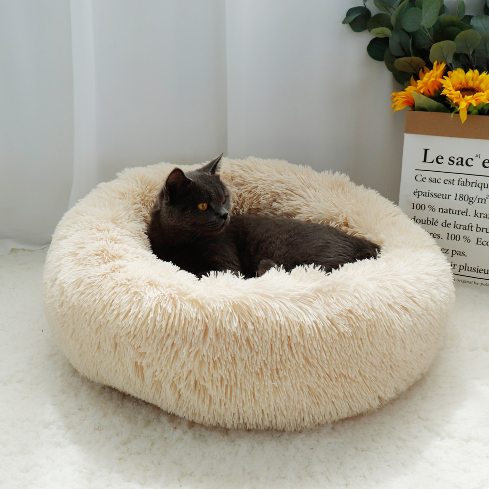 New Hot Best Selling Fluffy Calming Dog Bed Long Plush