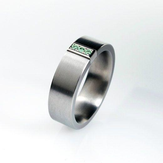 Green Diamond Ring Palladium Wedding Band Mens Wedding Ring Men Green Diamond Ring Men Palladi Wedding Ring Diamond Band Men Diamond Ring Blue Diamond Ring