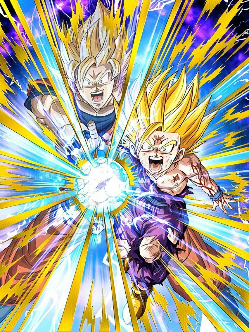 Father And Son Kamehameha Goku And Gohan♡ Dragon Ball
