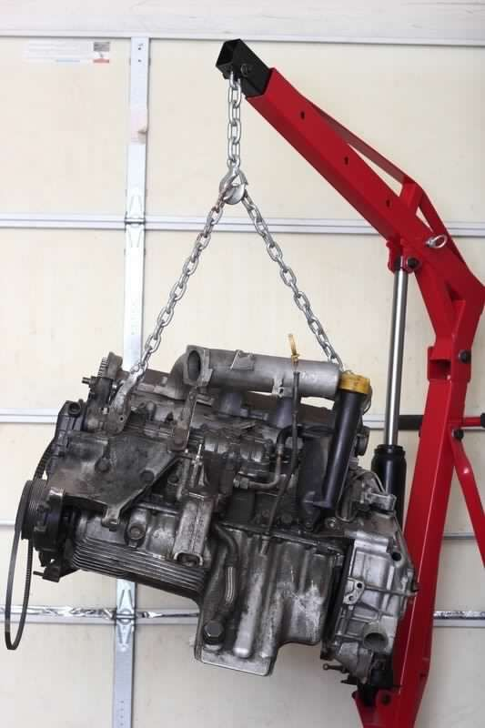 Build Your Own Hydraulic Lift : Build your own engine hoist shop crane diy plans fun to