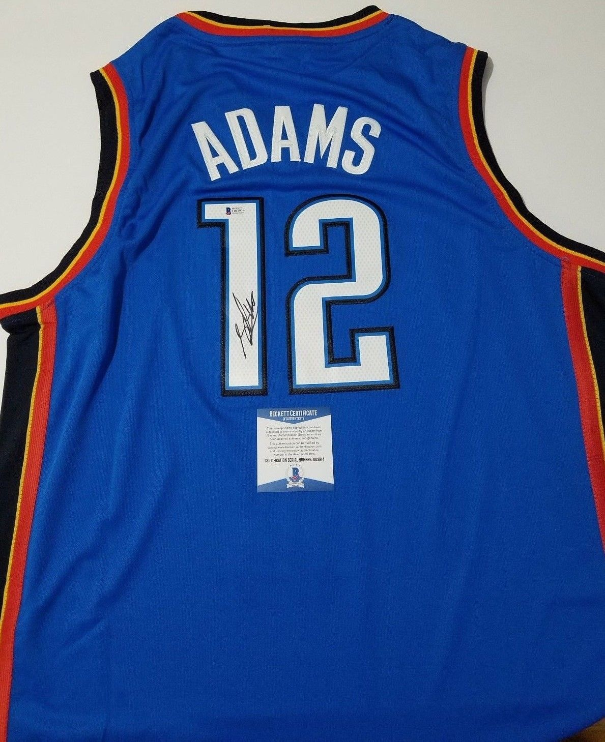 new style 00e5c f828f Steven Adams signed jersey BAS Beckett Oklahoma City Thunder ...