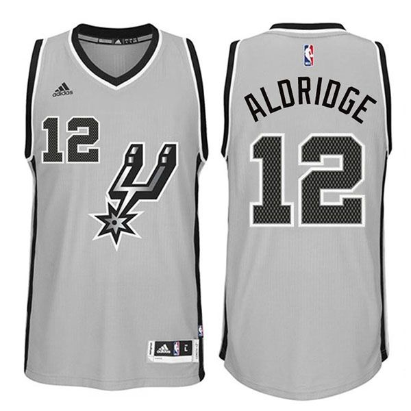 LaMarcus Aldridge  12 San Antonio Spurs Gray Swingman Jersey ... 4024641f2