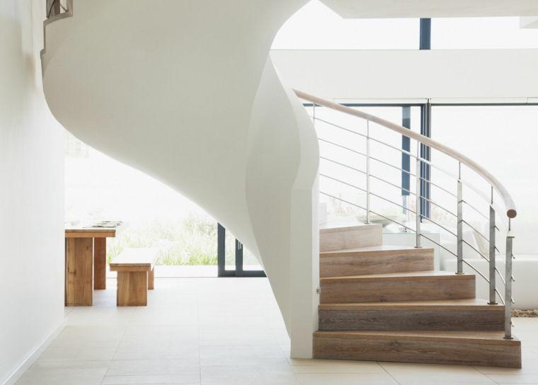 escaleras modernas para decorar los interiores Interiores - escaleras modernas
