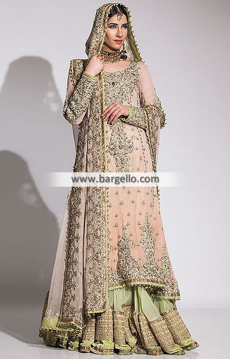 Bridal Gowns Kuwait : Pakistani bridal dresses fahad hussayn sharara