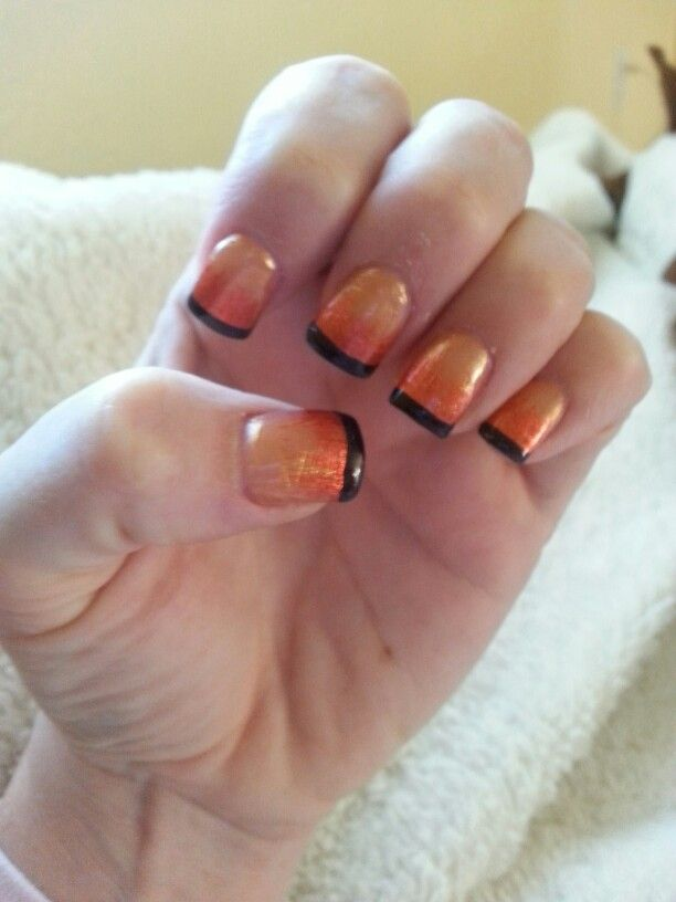 fall french tips