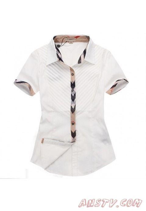 Femmes s Burberry Blanc Shirts wshirt150 Pas cher   Fashion   Pinterest 3e75f79da91