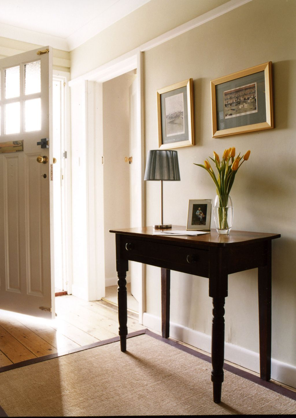 Bright Entrance Hall With Table