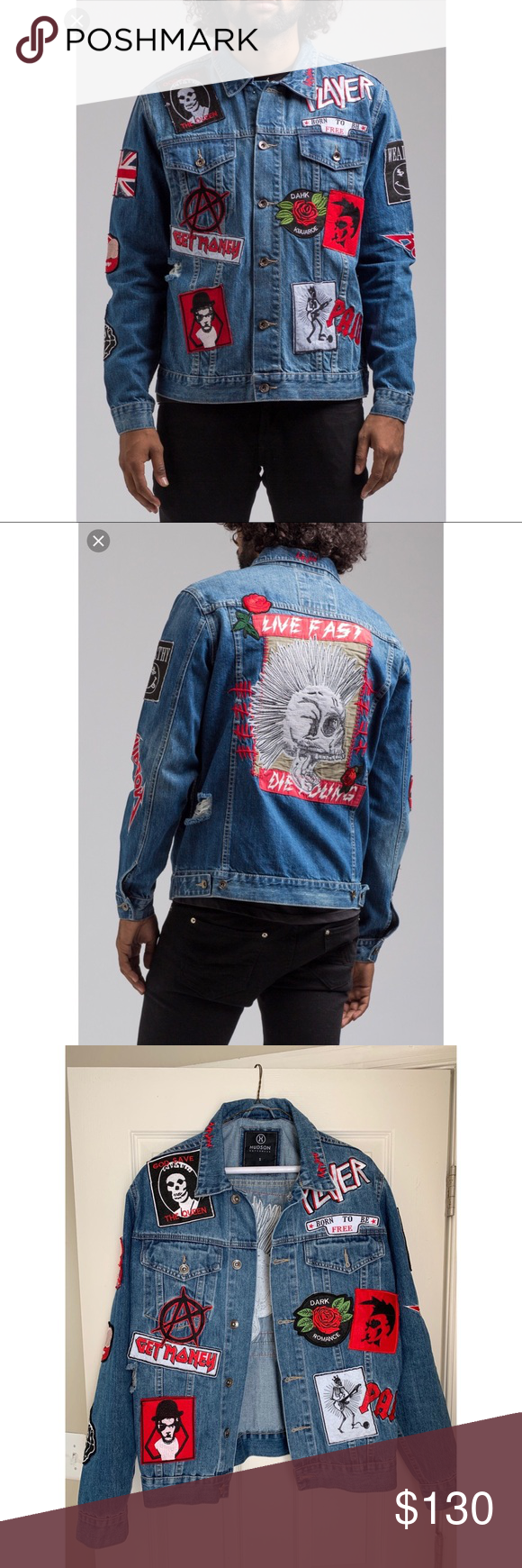 Hudson Outerwear Live Fast Die Young Denim Jacket 100 Cotton Ny Streetwear Brand Rare Out Of Stock Online Brand New Denim Jacket Jackets Outerwear Jackets [ 1740 x 580 Pixel ]