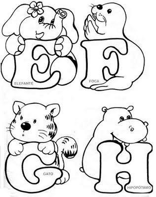 Oh my Alfabetos!: Alfabeto de animales para colorear. | Letras con ...