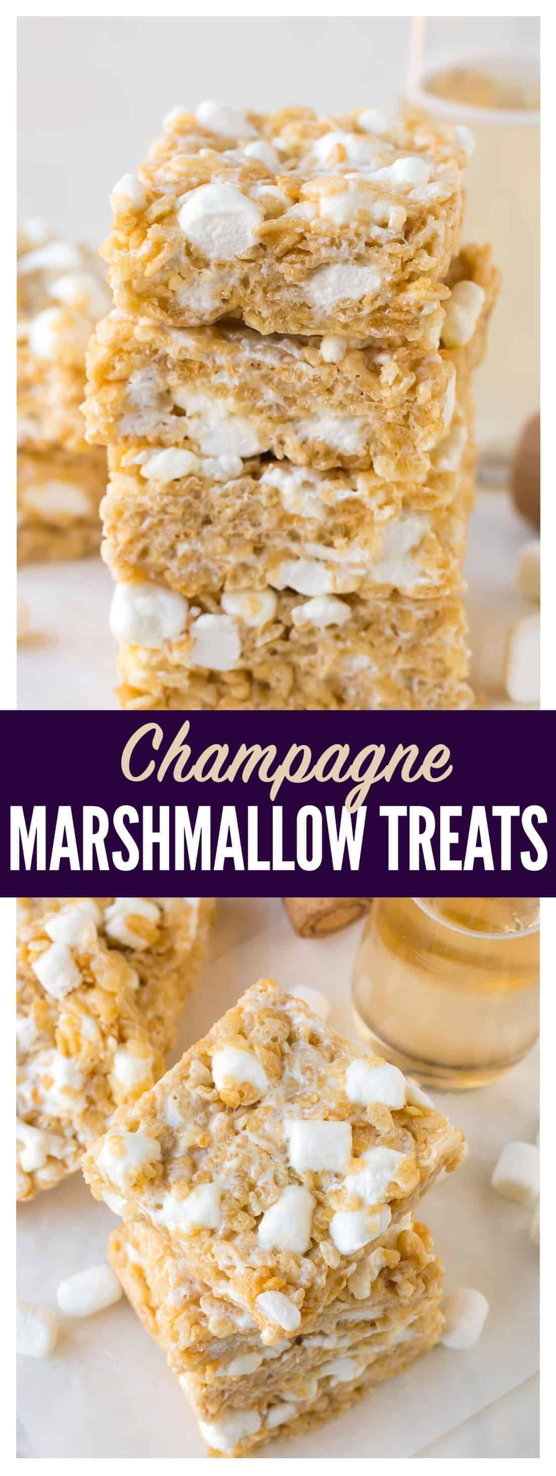 Soft, ooey-gooey, BOOZY Marshmallow Rice Krispie Treats ...