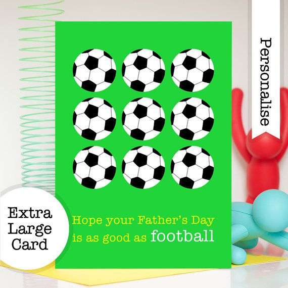 Football Fathers Day Card Soccer Fathers Day Card Personalised Card For Dad Football Card Hand Greeting Cards Handmade Personal Cards Personalized Card