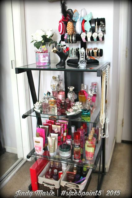 How I Organize My Perfumes Lotions And Jewelry January 5th Perfume Organization Diy Perfume Organizer Perfume Display