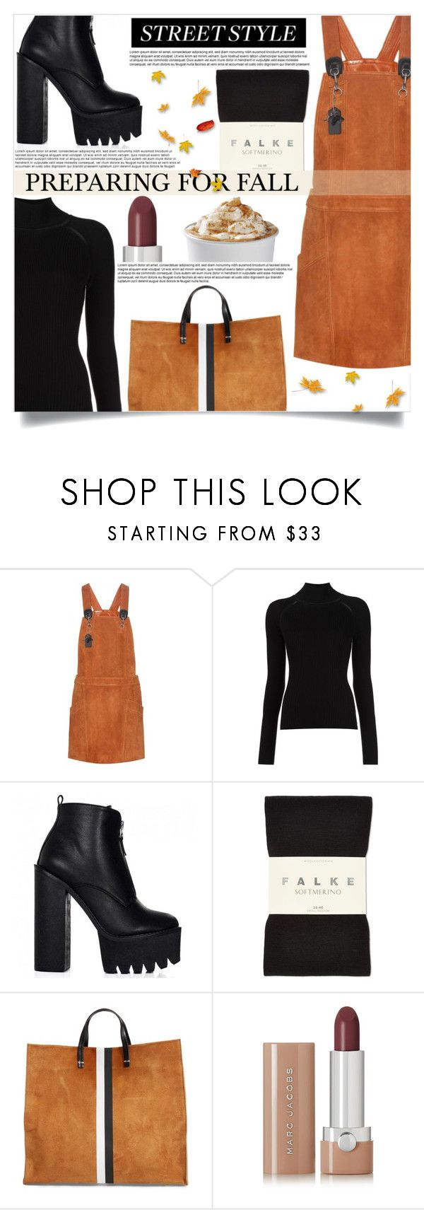 """""""Untitled #430"""" by mistressofdarkness on Polyvore featuring Coach, Misha Nonoo, Falke, Clare V. and Marc Jacobs"""