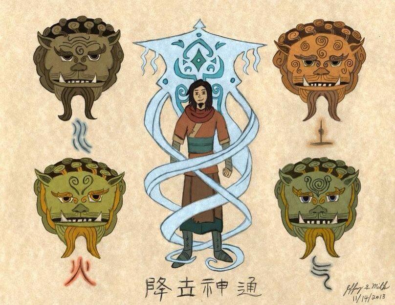 The Great And Powerful Wan Poses De Luta Avatar A Lenda De Korra