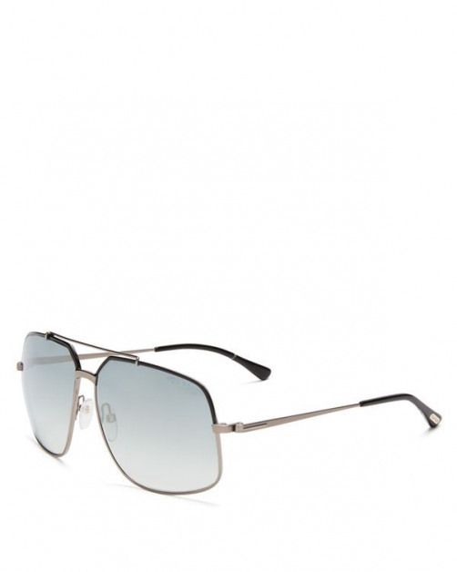 The ultimate accessory Tom Fords squared-off sunglasses look sharp on city streets or sandy shores