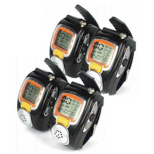 Agptek Fashionable Wristwatch Walkie Talkie Spy Wrist Watch 4 Pack For Only 89 99 Walkie Talkie Weekend Hiking Traveling By Yourself