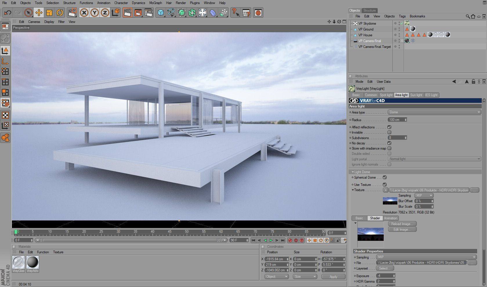 HDRI Lighting with Cinema4D and vray Temas de