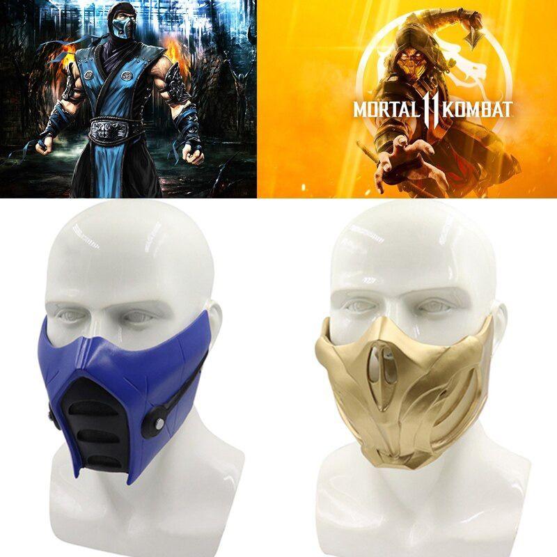 Game Mortal Kombat 11 Scorpion Mask Cosplay Props Resin Halloween