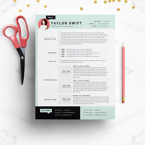 Check Out Mint Resume  Cover Letter Template By Jannalynncreative
