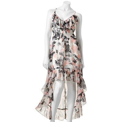 Heart Soul Floral Chiffon Maxi Dress
