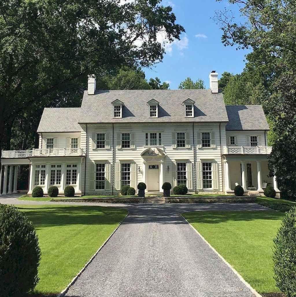 Colonial Home Design Ideas: 130 Stunning Farmhouse Exterior Design Ideas (48