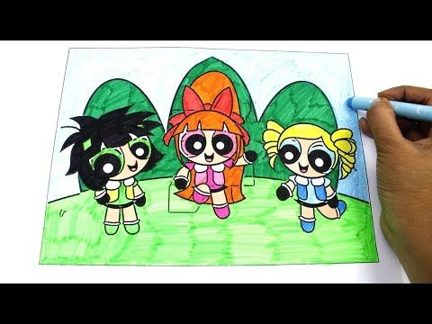 Powerpuff Girls Coloring Book Bubbles Blossom Buttercup Ppg Ppgz Rowdyruff Boys Coloring Pages Youtube Coloring Pages For Boys Powerpuff Girls Coloring Books