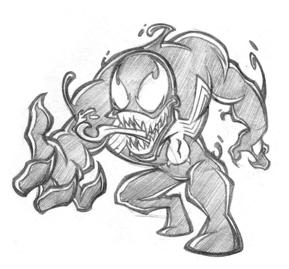 chibi venom by thekidkaos