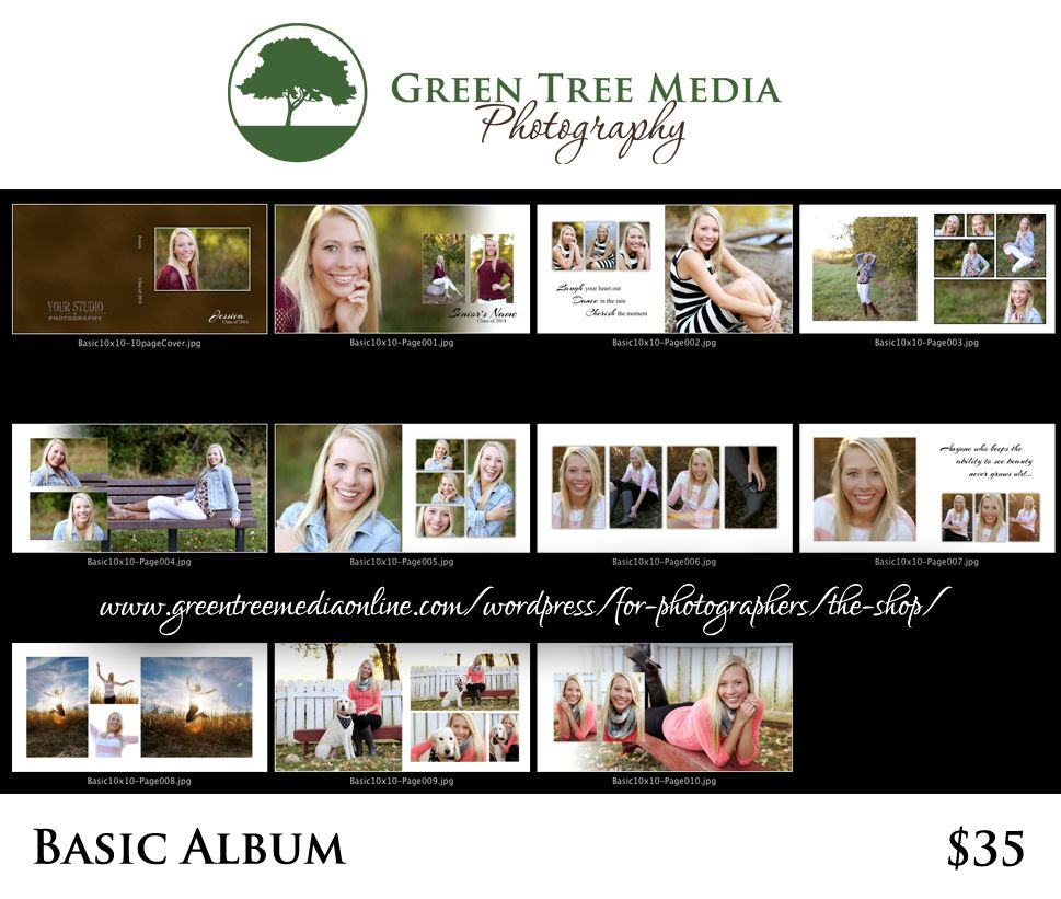 Photography product basic album template design wordpress templates products also rh co pinterest