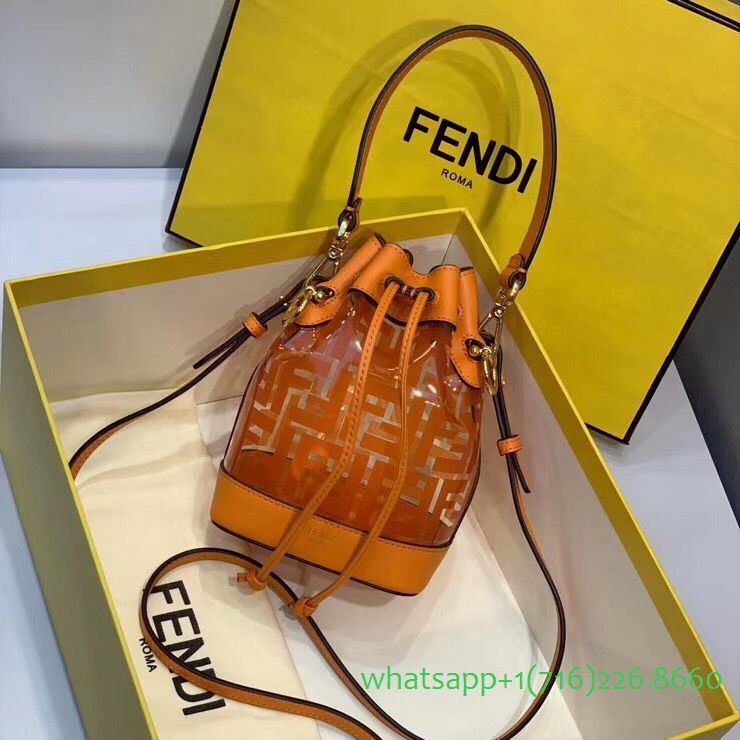 Fendi Mon Tresor 0503S clear bucket bag | Fendi, Bags