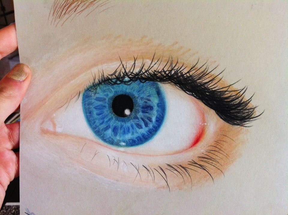 My first colored pencil drawing. I really should use ...