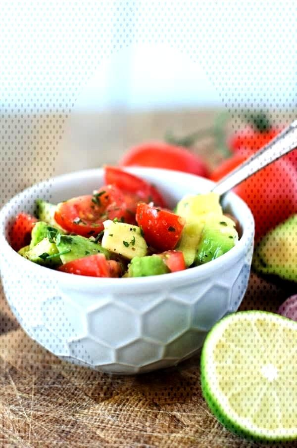 Fresh tomato and avocado salad Fresh tomato and avocado salad,