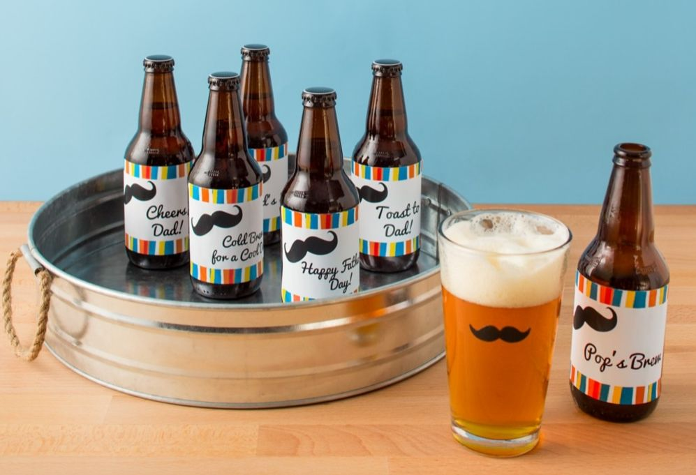 personalize dad s favorite brew with your own customized labels the