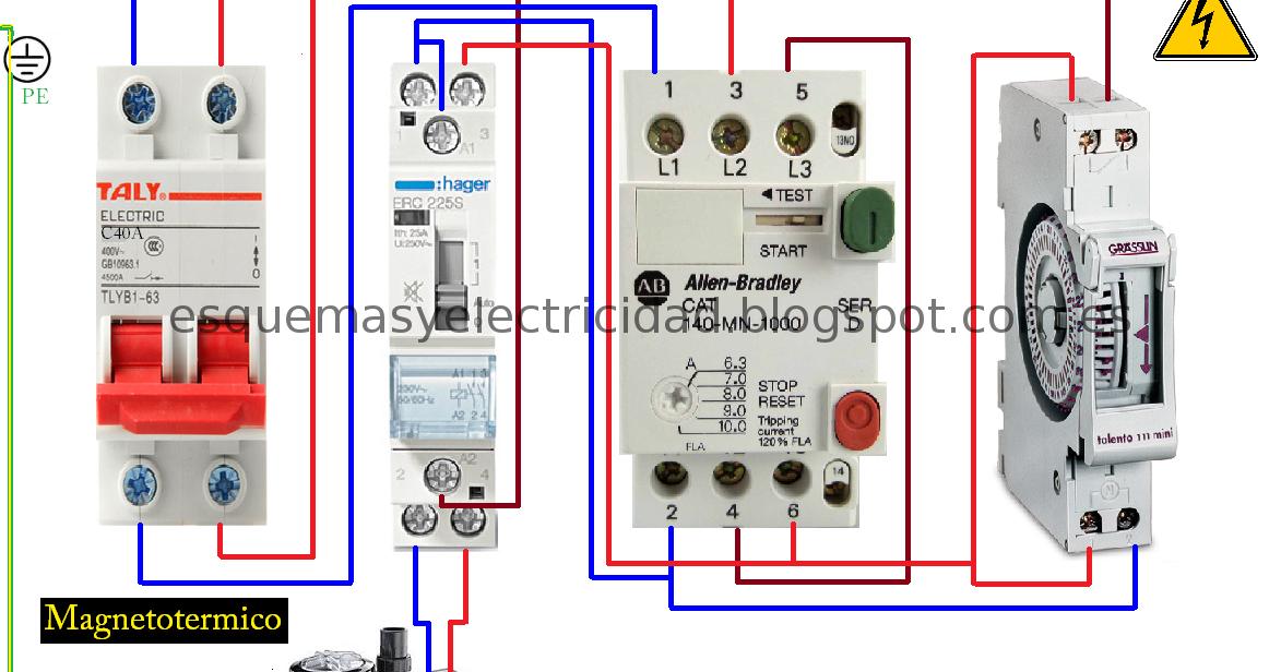 Esquema Maniobra Contactor Guardamotor Y Reloj Horario Para Motor Piscina Esquemas Electricos Proyectos Eléctricos Esquemas