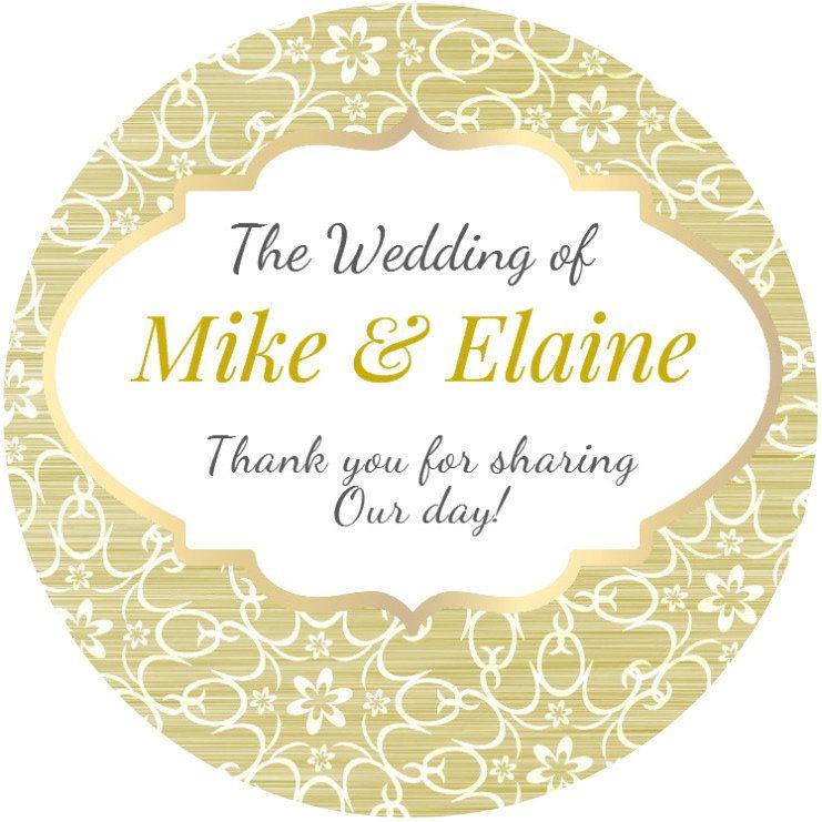 48 Personalised Wedding Celebration Stickers Labels Thanks Bag Seals GLOSS MATT