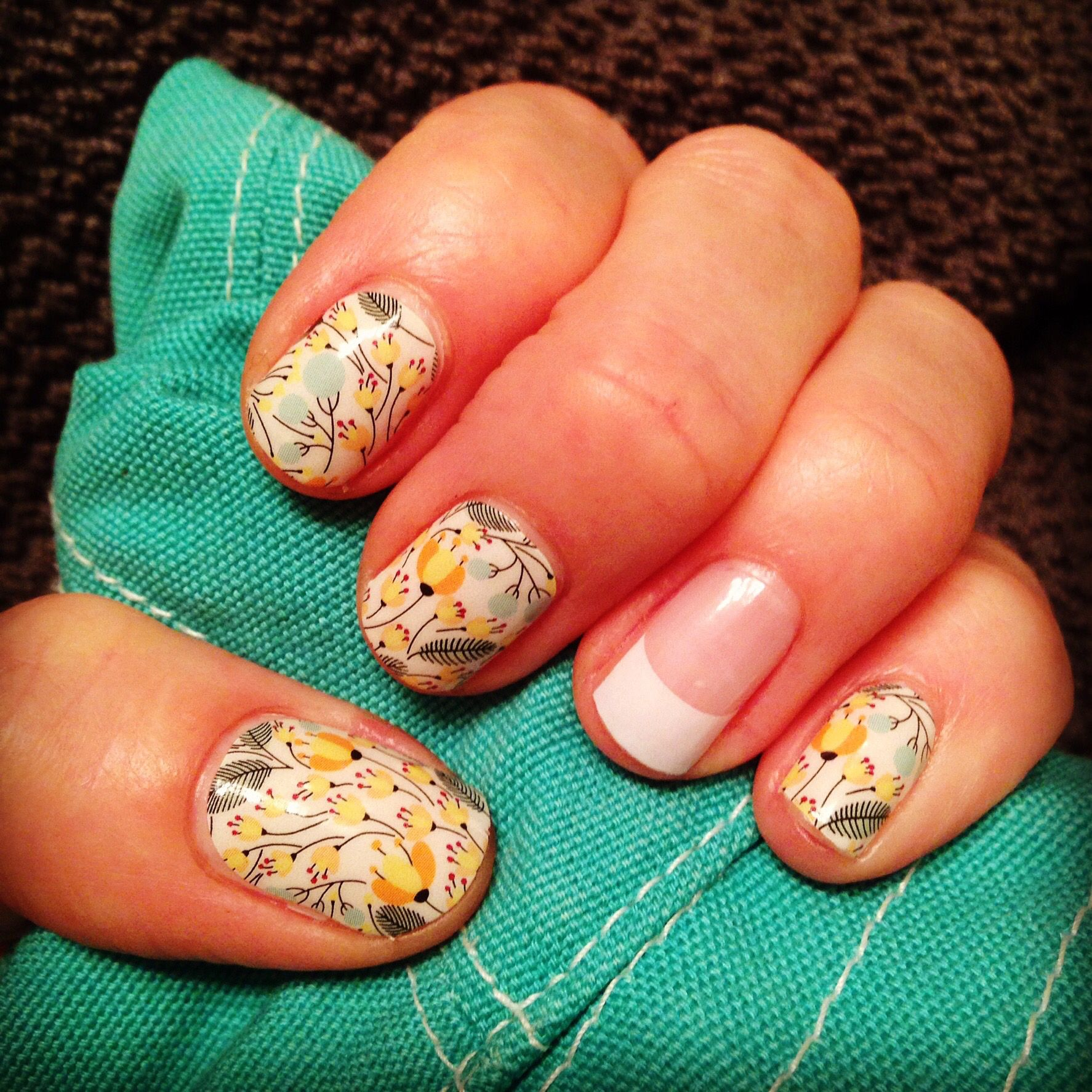 SweetWhimsyjn with a White French Tip Accent new favorite Jamberry ...