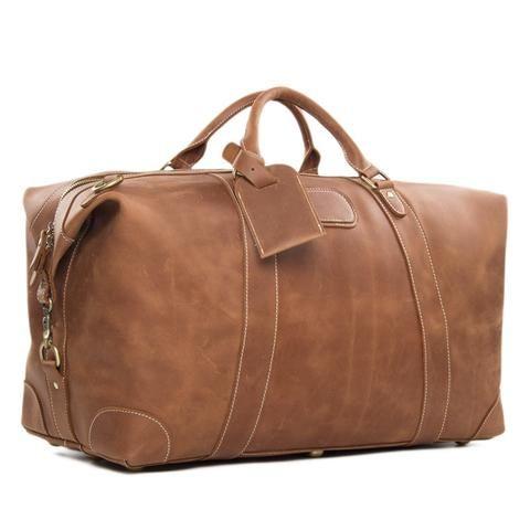 efd554eb8294 Genuine Leather Travel Bag Men Duffle Bag Large Capacity Gym Bag With  Shoulder Strap Model.