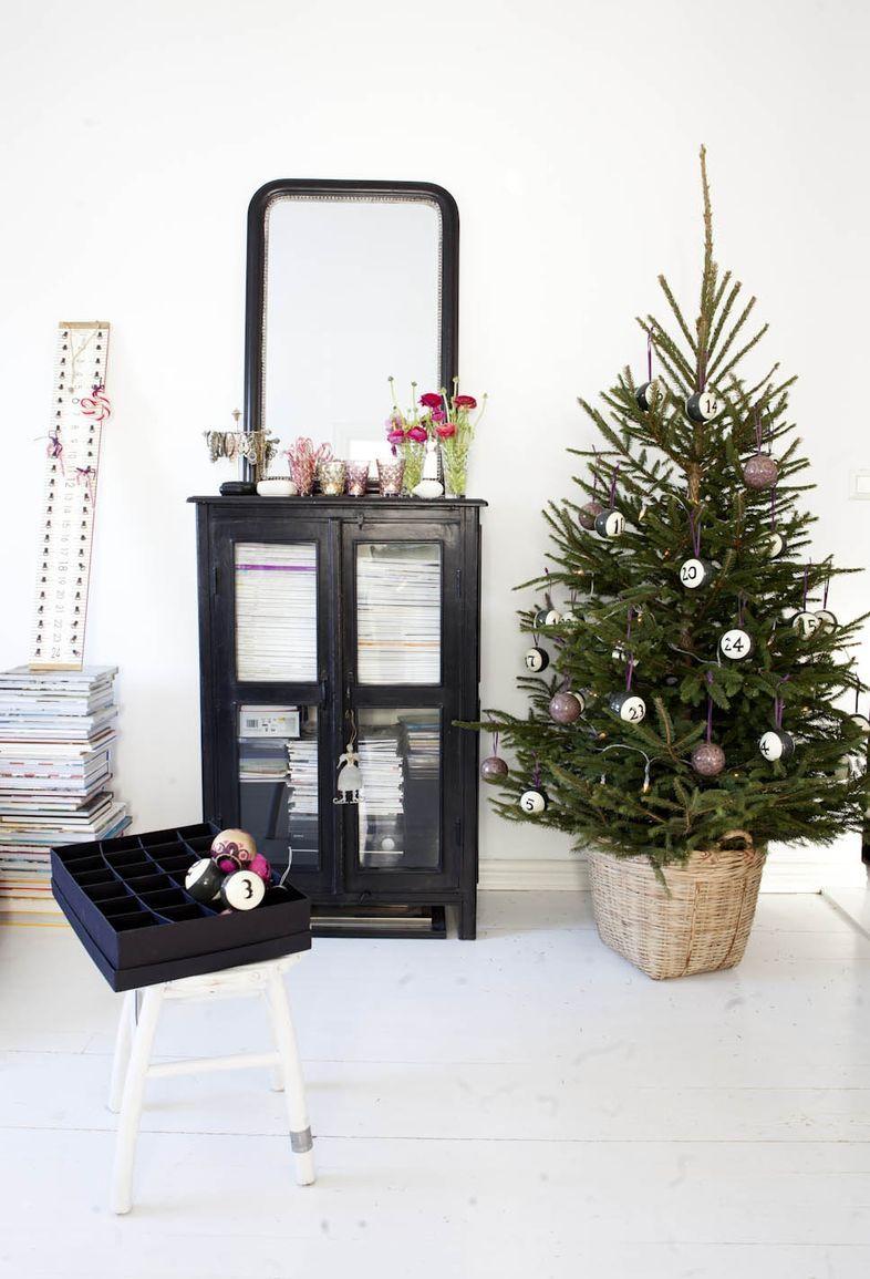 Scandinavain style Christmas home decorating ideas DIY -Mrs Jones ...