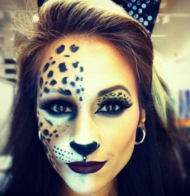 Cat for halloween cat makeup cheetah makeup diy cat costume  sc 1 st  Pinterest & Halloween Looks   Leopard #animalprint #costume #ideas #pmmodesto ...