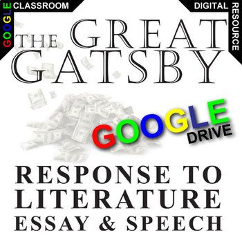 The Great Gatsby Essay Prompts And Speech W Rubrics Created For  The Great Gatsby Essay Topics Will Get Learners Engaging With Meaningful  Topics The Novel Raises Theme  The American Dream  Real Or Not